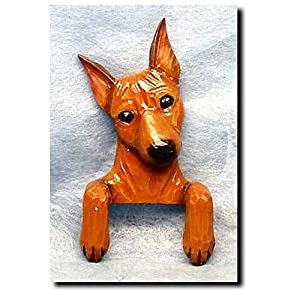RED Miniature Pinscher Door Topper
