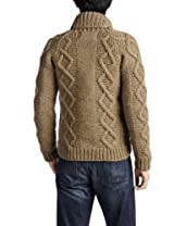Canadian Sweater Company Aran Button Shawl Collar Cardigan 09CN37: Oatmeal
