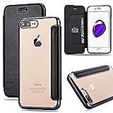 CinoCase iPhone 7 Plus ケース 手帳型 創意 アイフォン7 Plus ケース スペシャル フリップケース 高品質 PUレザー バック ソフト TPU クリア バンパー ポケット 高級感 オシャレ 綺麗 上品 防塵 耐傷