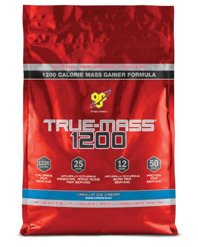 BSN  TRUE-MASS 1200- Vanilla, 10.25 Pound
