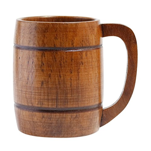 JustNile Classic Wooden Beer Mug- Brown, 325ml /11ozs (Beer Mugs Medieval compare prices)