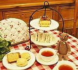 折りたたみ式2段ケーキスタンド(ドルチェ フォールケーキスタンド ブラック2段)