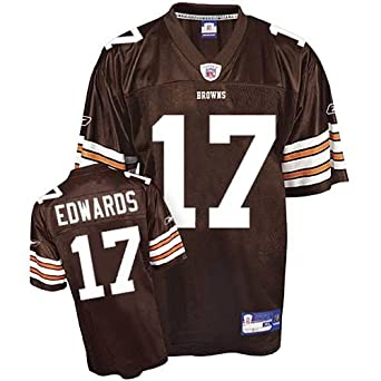 Braylon Edwards #17 Cleveland Browns Youth NFL Replica Player Jersey (Team Color) (X-Large)