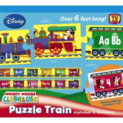 Picture of Hasbro Disney Mickey Mouse Clubhouse Puzzle Train - Alphabet and Numbers (B001DZ1EDI) (Floor Puzzles)