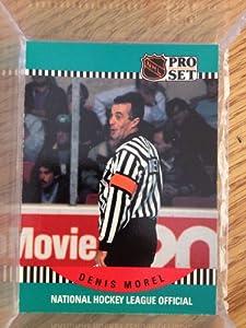 1990-91 Pro Set #695 Denis Morel Referee Referee