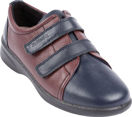 Padders Women's Revive Orthotic Shoes,Navy/Bordeaux Leather,6.5 UK