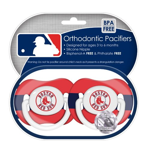 MLB Boston Red Sox Pacifiers, 2-Pack at Amazon.com