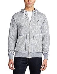 Nautica Men's Cotton Sweatshirt (8907036271904_NTK346304YL_X-Small Yarn Dye Lapis)