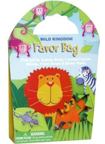 Jungle Animals Goody Bag with 6 Favors