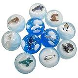 スーパーバウンドボール 3Dペンギン(45mm) 25個入  / お楽しみグッズ(紙風船)付きセット [おもちゃ&ホビー]