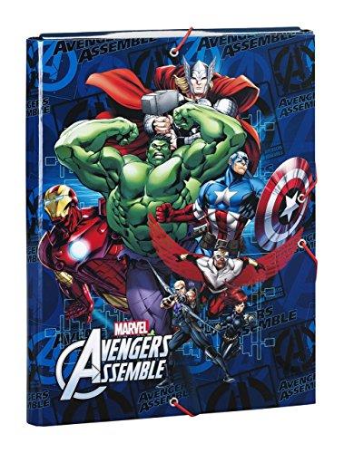 Avengers - Carpeta gomas solapas, color azul (Safta 511634068)