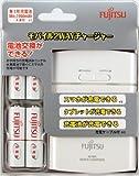 富士通 USBモバイル急速充電器(1A高出力タイプ) 「単3形ニッケル水素電池4個付き」 FSC342FX-W(FX)