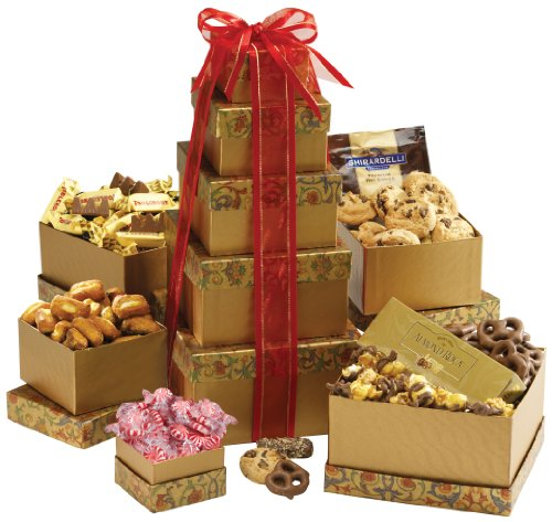 Broadway Basketeers Gourmet Gift Tower Deluxe