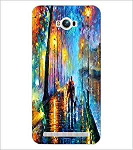 PrintDhaba Abstract Art D-1149 Back Case Cover for ASUS ZENFONE MAX ZC550KL (2016) (Multi-Coloured)