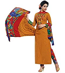 Lakshmi Fashion Creation Women's Cotton Dress Material ( Musterd )
