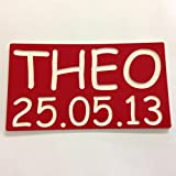 ENGRAVED NUMBER PLATES FOR CHILDRENS LITTLE TIKES COZY COUPE RIDE ON TOYS **ADD YOUR TEXT* (RED)