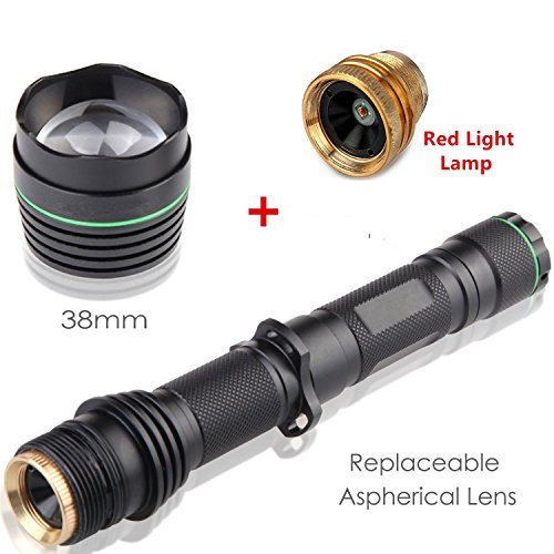 Uniquefire New Arrivel UF1508 IR 850NM T38 38MM Lens Infrared Light Night Vision Flashlight Adjustable Focus Zoomable Torch + Replacement XRE Red Light Lamp Holder Pill (Get Free) for Night Huting (Hand Pill Press compare prices)