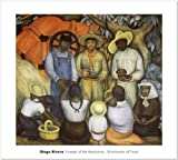 SMART ART - 'Triumph of the Revolution- Distribution of Food' by Diego Rivera - Fine Art Print 30x27 inches