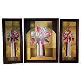 Positive Energy Canvas Hanging Wall Art Decorative Painting Frame (3pcs Set) D8