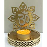 """M.G.R.J """"OM"""" Shadow Lamps Tealight Candle Holder Stand For Pooja And Decorative"""