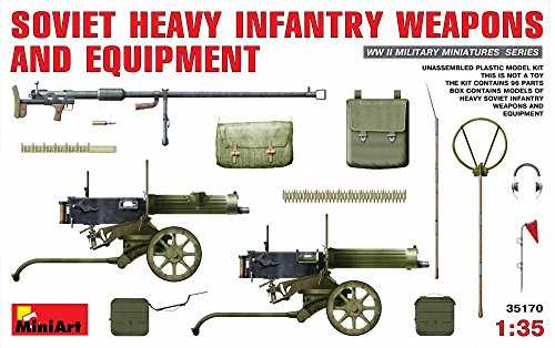 1:35 Soviet Heavy Infantry Weapons & Equipment Model Kit (Heavy Equipment Models compare prices)