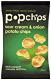 Popchips Sour Cream and Onion Potato Chips Share Bag 85 g (Pack of 4)