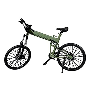 Generic 1 6 scale foldable bike bicycle toy green for for 70 bike decoration