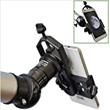 Astromania Universal Cell Phone Adapter Mount Support Binocular Monocular Spotting Scope Telescope and Microscope Optical Device - Black