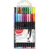 Maped Graph'Peps Fineliners, Assorted Colors, Pack of 20 (749151)