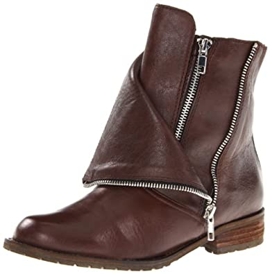 DV by Dolce Vita Women's Sera Motorcycle Boot,Chocolate Leather,7 M US