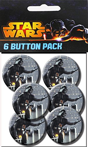 C&D Visionary Star Wars Vader Reach 1.5 Inch Button, (6-Piece) - 1