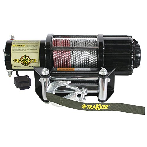 Keeper-Corporation-KT4000-Trakker-16-Horsepower-12V-DC-Electric-Winch-4000-Pound-Capacity-Black