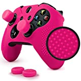 ParticleGrip STUDDED Skin Set for Xbox One by Foamy Lizard ® PATENT PENDING Silicone Skin Cover Antislip Studs PLUS a matching set of 4 AceShot Analog Thumb Grips PINK