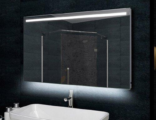 badspiegel mit led beleuchtung 120x60 aluminiumrahmen. Black Bedroom Furniture Sets. Home Design Ideas