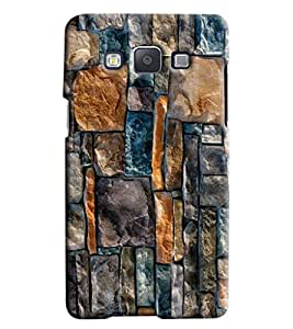 Blue Throat Stone Pattern Printed Back Cover For Samsung Galaxy E7