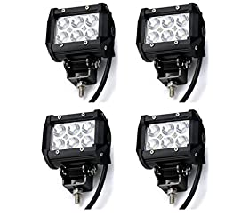 "(Pack of 4Pcs) 4"" Inches Spot Beam 8 Degree Off Raod CREE 18W LED Work Light Bar 4WD Boat UTE Driving ATV Car"