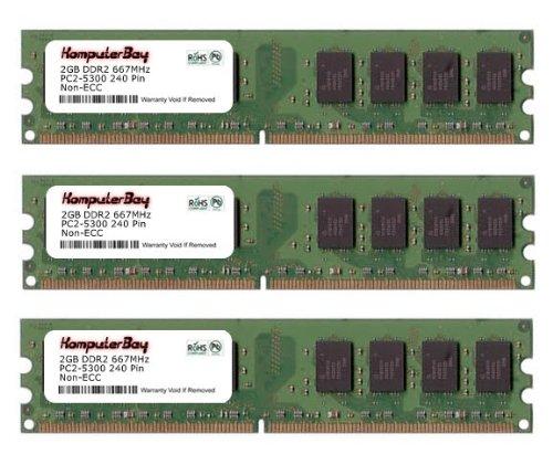 Komputerbay 6Gb ( 3 X 2Gb ) Ddr2 Dimm (240 Pin) Am2 667Mhz Pc2 5400 / Pc2 5300 For Asus M3N72-D 6 Gb