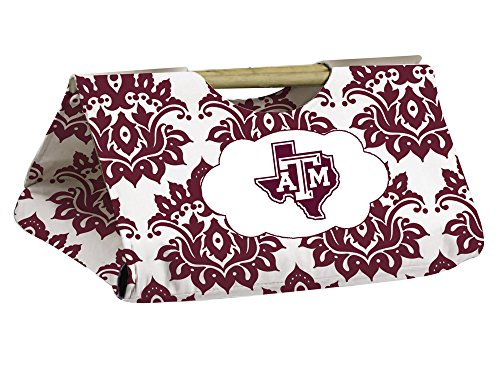 Texas A&M Aggies Damask Pattern Casserole Dish Carrier front-681008