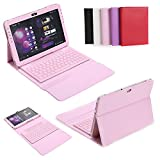 CoastCloud Bluetooth MagneticBlack Pink Case Cover Stand Holder Wireless Keyboard For Samsung Galaxy Tab 2 10.1