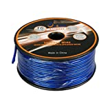 Aurum Cables 16 Gauge Transparent PVC Speaker Wire w/Foot Markings every 5 Ft - 50 feet