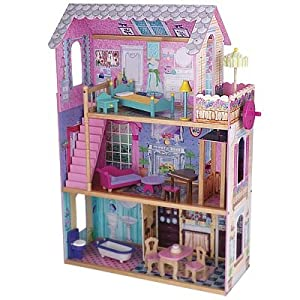 Kidkraft Wooden Emma Dollhouse With Furniture And Working Elevator Ebay