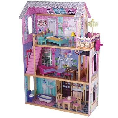 Kidkraft Wooden Emma Dollhouse With Furniture And Working Elevator B001gds8rw Amazon Price
