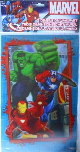 3D Wall Art 17 x 11 inch - Marvel Heroes - 1