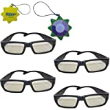 HQRP Polarized 3D Glasses -(Pack