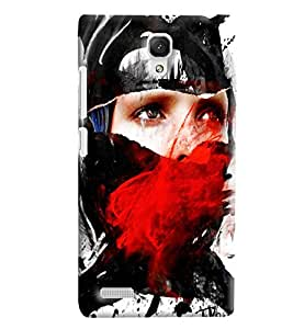 Blue Throat Man With Red Eyes Printed Designer Back Cover/Case For Xiaomi Redmi Note Prime