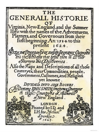 Title Page of John Smith's General Historie of Virginia, c.1624