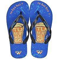 Wega Life BEER Blue/Black Flip Flops (UK 9 MEN)