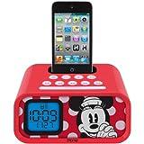 Brand New Ekids Disney Minnie Mouse Dual Alarm Clock Speaker System With Ipod Dock