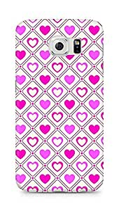 Amez designer printed 3d premium high quality back case cover for Samsung Galaxy S6 (Romantic Pink Color Hearts10)
