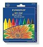 Staedtler 226 NC8 Noris Club Super Jumbo Wax Crayon Pack of 8